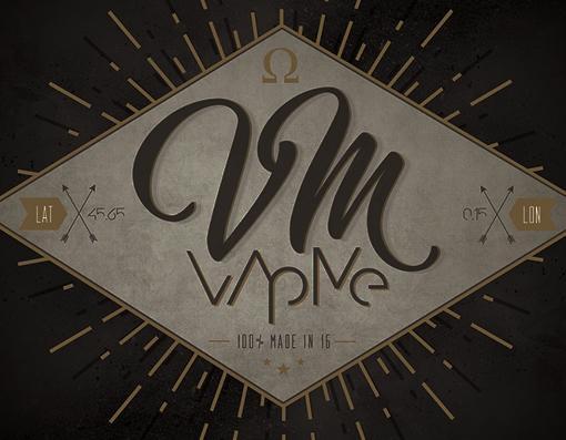création logo et charte graphique de la marque Vapme